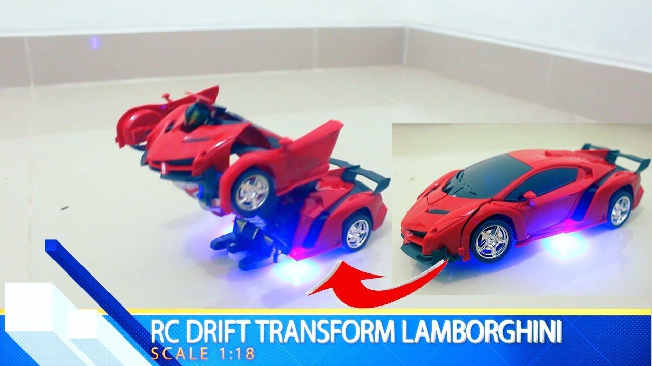 Mainan Mobil Lamborghini Jadi Robot Transformers Robot Jadi Mobil Drift Youtube