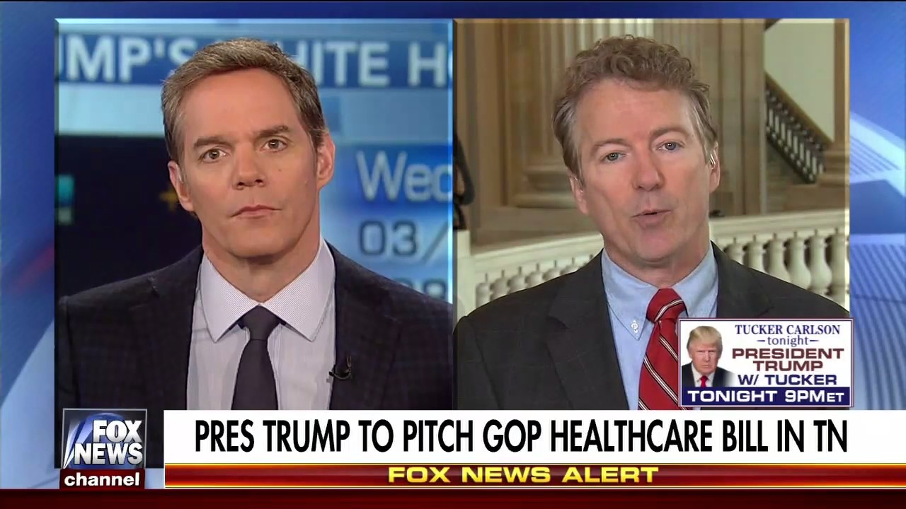"Sen. Rand Paul on Fox News' ""America's Newsroom"" - March 15, 2017"