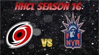 Roblox HHCL Season 16 Game 10 Carolina Hurricanes vs New York Rangers!