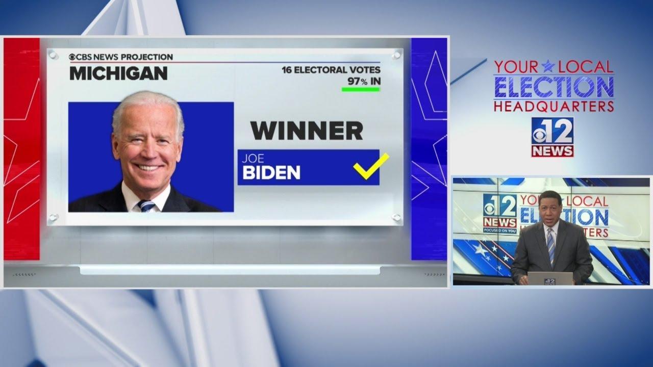 Biden wins Michigan, now at 264 electoral votes