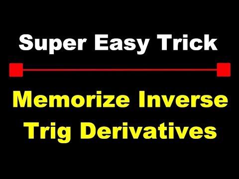 Trick For Memorizing Inverse Trig Integrals