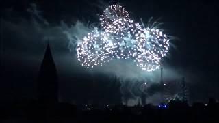 Ufo  über Eisleber Wiesenmarkt und Feuerwerk