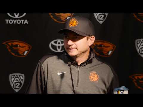 Oregon State Beavers - Jonathan Smith talks about disappointing loss to Cal!
