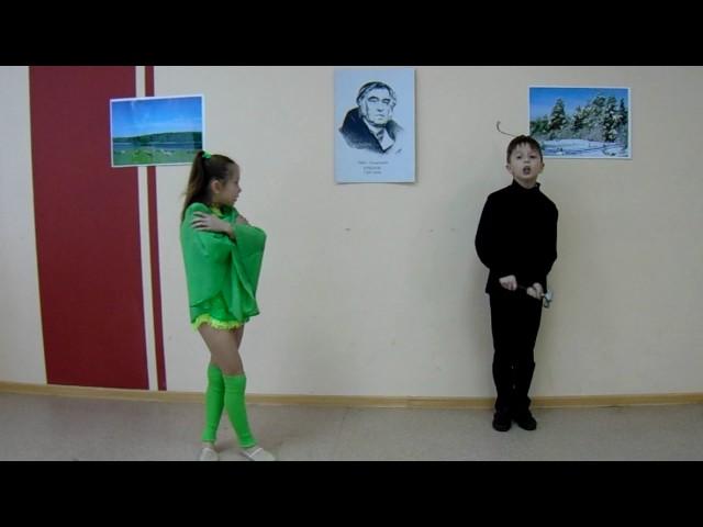Изображение предпросмотра прочтения – Борис Прошеки Виктория Вахлакова читает произведение «Стрекоза и Муравей» И.А.Крылова