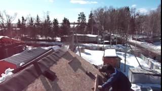 видео Монтаж черепицы LUXARD в зимнее время (часть 1)