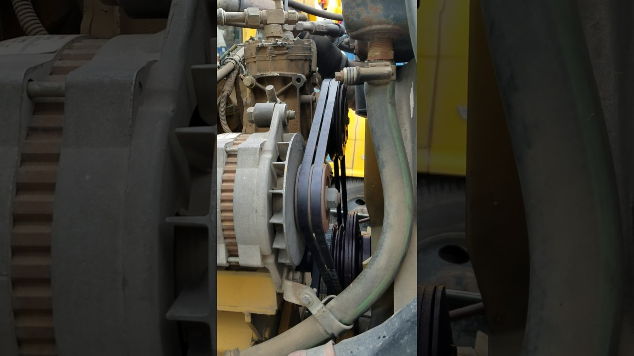 96 kenworth t600 fan belt routing 3406 cat engine  YouTube