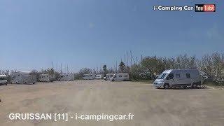 GRUISSAN [11] - Aire Camping Car dans l'Aude