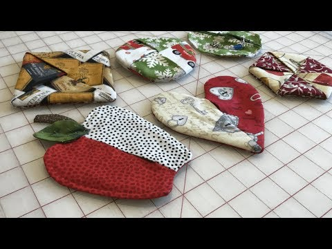 Handmade Coasters - Apples, hearts, hexagons, and circles!