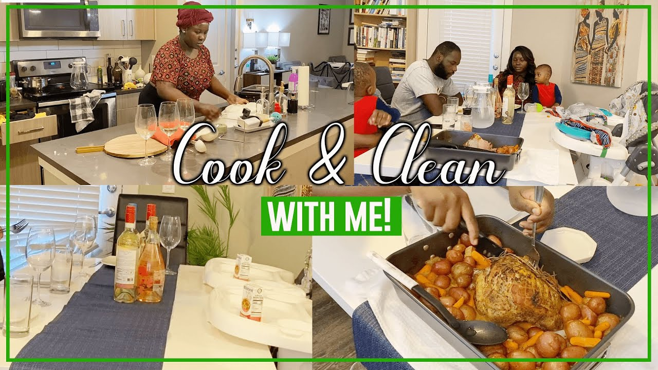 COOK AND CLEAN WITH ME | COOKING PORK ROAST | EATING WITH MY SIBLINGS | CLEANING MOTIVATION