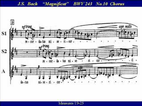 JS Bach Magnificat BWV 243-10 Suscepit Israel - Score