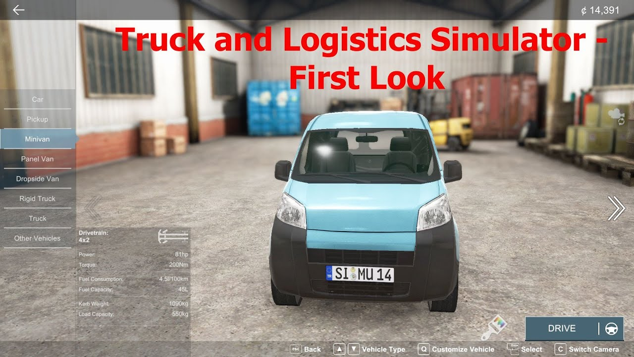 Truck and Logistics Simulator - First Look - YouTube