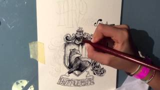 Drawing Hufflepuff
