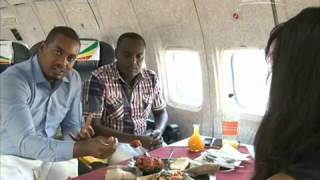 CCTV Report   An Ethiopian Plane Restaurant in outskirt of Addis Ababa   November 2014