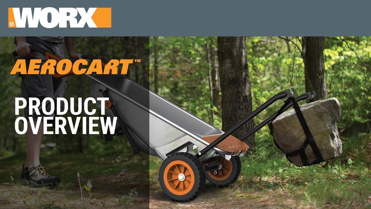 Product Overview Worx Aerocart Wheelbarrow