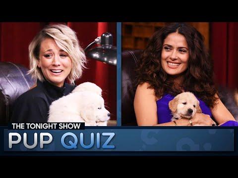 Tonight Show Pup Quiz with Kaley Cuoco and Salma Hayek