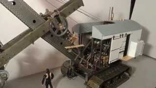 Repeat youtube video 1:10 scale Bucyrus Erie 50-B Steam Shovel - Final test with compressed air