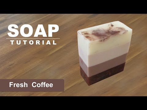 Fresh Coffee #3, Melt And Pour Soap Tutorial