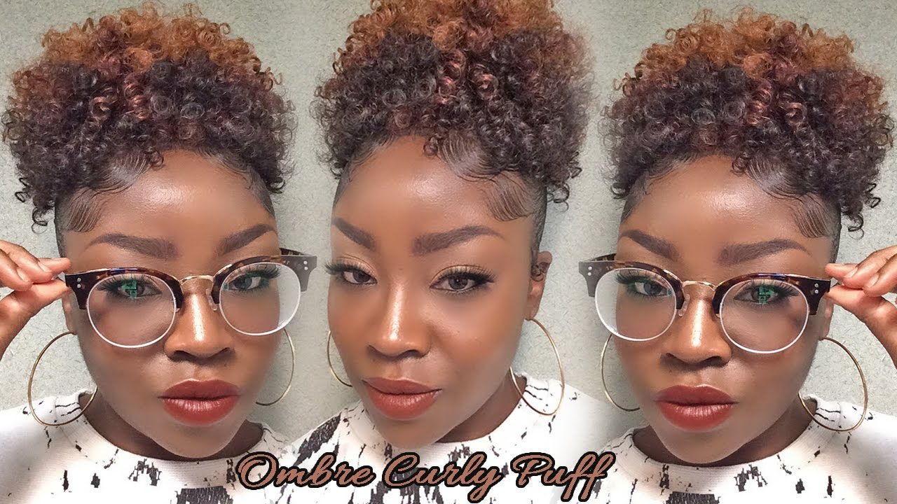 Ombre Curly Puff Milky Way Q Coil Curl Youtube