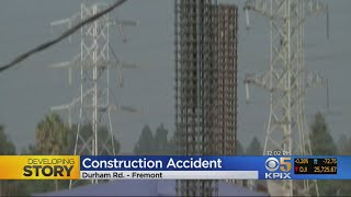3 HURT IN CONSTRUCTION ACCIDENT: A 20-foot rebar tower topples onto 3 workers at Fremont constructio