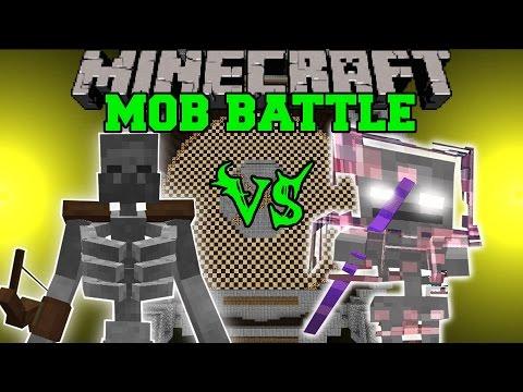 MUTANT SKELETON VS SKELE-TON - Minecraft Mob Battles - Mods