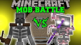 MUTANT SKELETON VS SKELE-TON - Minecraft Mob Battles - Mods