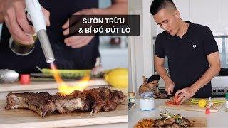 SƯỜN CỪU ÁP CHẢO & BÍ ĐỎ ĐÚT LÒ | Anh bạn thân Cooking #4 | Vlog