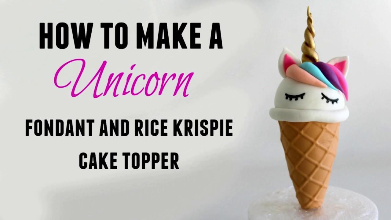 How to make an ice cream shaped unicorn fondant cake ...