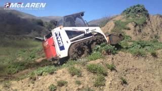 McLaren Оver-Тhe-Тire tracks on Bobcat 743 Skid Steer Loader