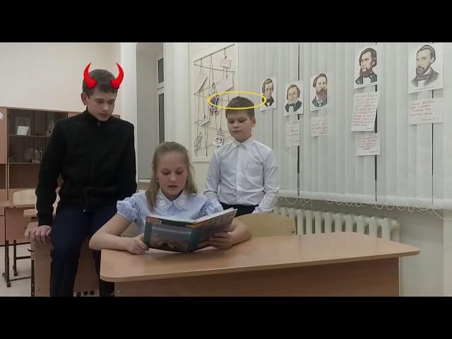 Изображение предпросмотра прочтения – «6б класс Междуреченской СОШ» читают произведение «Не верь, не верь поэту, дева...» Ф.И.Тютчева