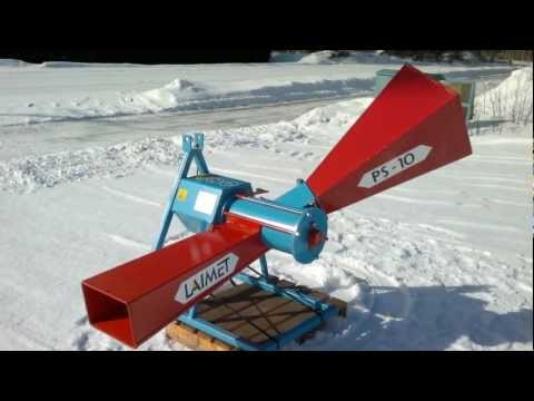 Tractor powered Laimet PS-10 wood chipper