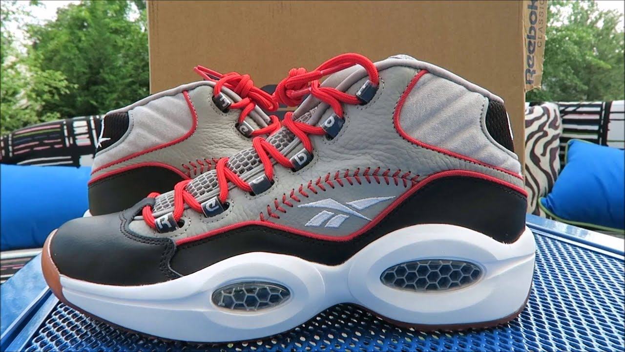 bed2dff745a9 Reebok Iverson Question Mid Practice Sneaker Detailed Look + On Feet ...