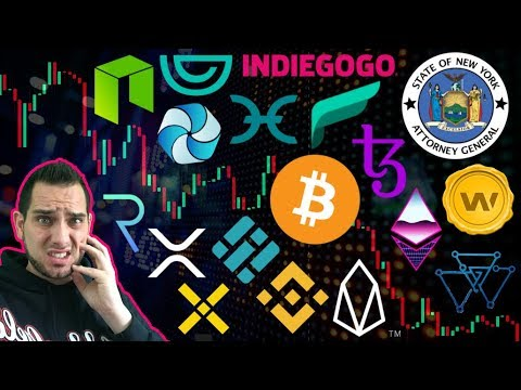 NY Attorney General: Crypto Is Too Risky!!! $BTC Core BUG 😱 Indiegogo STO   $XRP Tipping
