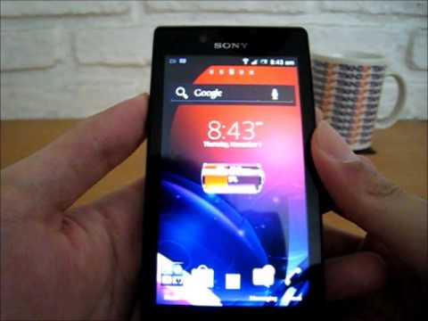 Antar Muka Sony Xperia J