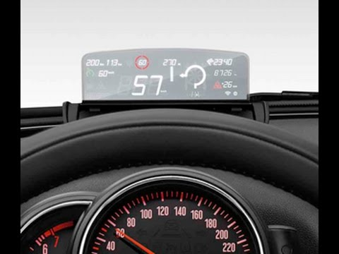 heads up display hud mini cooper sd clubman 2016 youtube. Black Bedroom Furniture Sets. Home Design Ideas