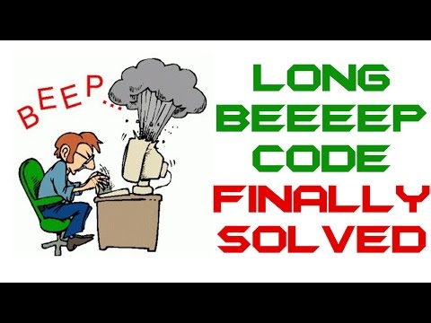 One Long Continuous Beep Code Finally Solved - PC Computer Troubleshoot