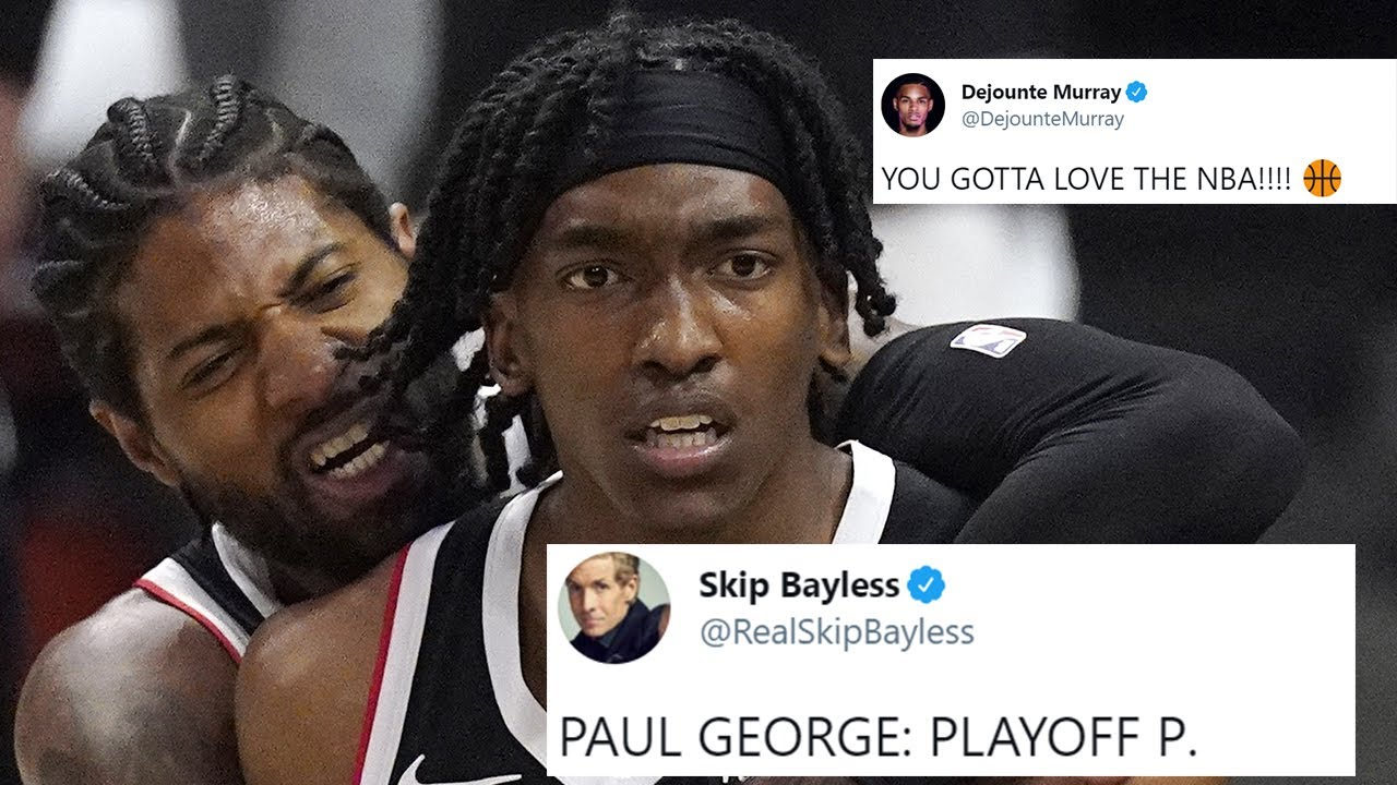 NBA PLAYERS REACT TO CLIPPERS HISTORIC 25 POINT COMEBACK WIN VS UTAH JAZZ - CLIPPERS ADVANCE TO WCF!