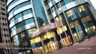 Rose Rayhaan by Rotana, the world's tallest hotel. Dubai, United Arab Emirates