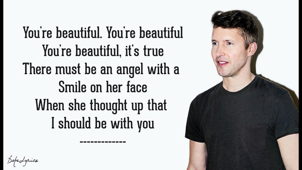 Youre Beautiful James Blunt Lyrics Youtube