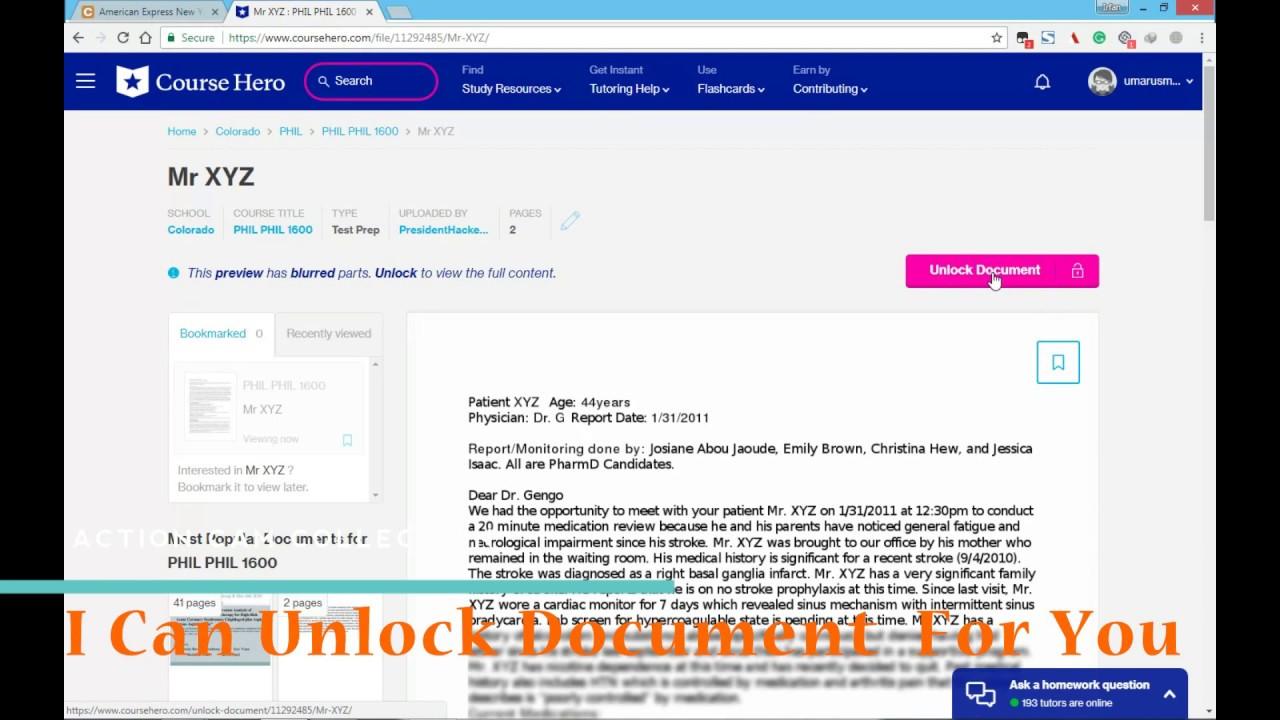Cara Download Dokumen Di Course Hero Gratis Seputar Gratisan