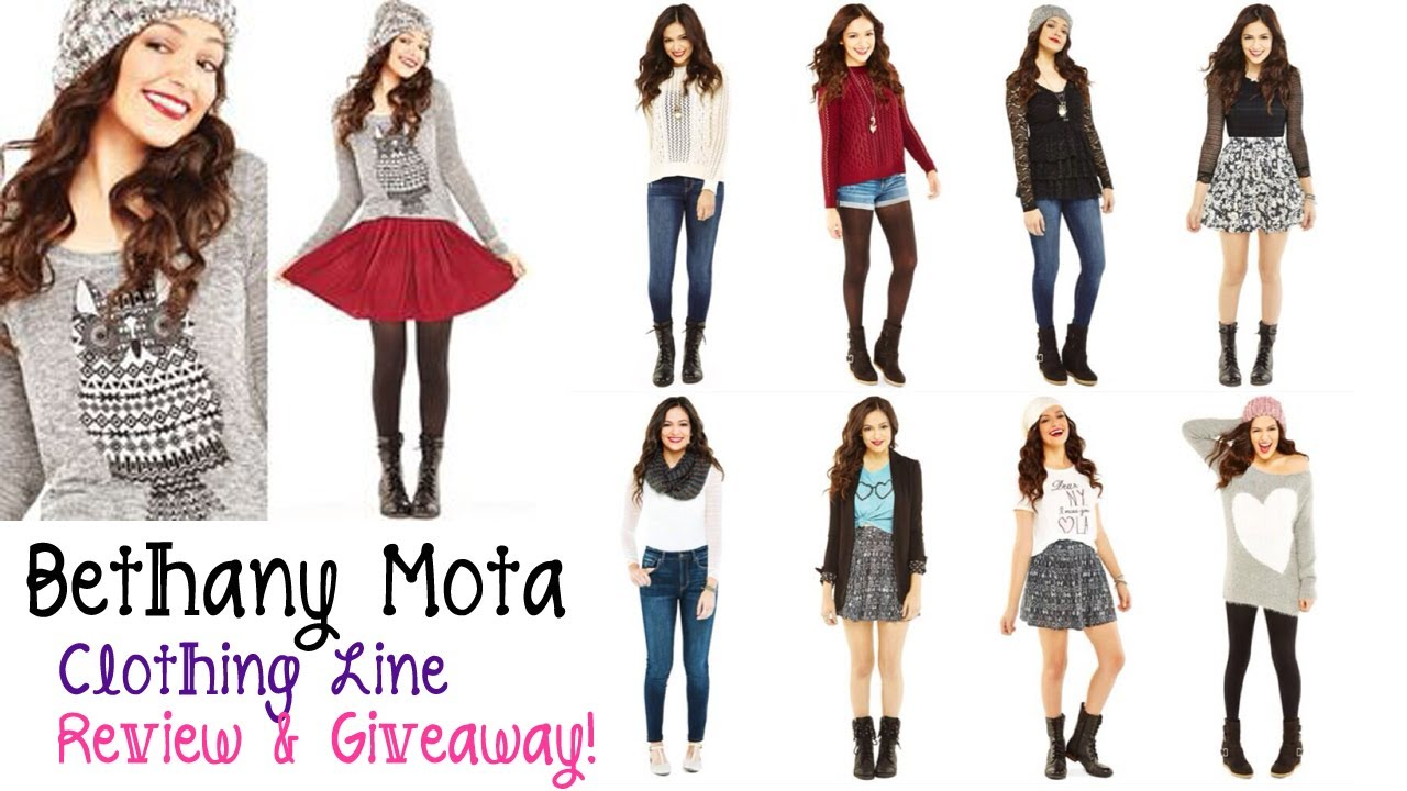 Bethany Mota Clothing Line For Aeropostale Review Giveaway Closed Youtube