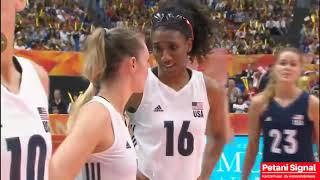 Japan vs USA  Final 5-6 World 's Women volleyball championship2018
