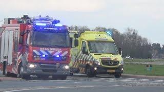 Hulpdiensten massaal naar dodelijk ongeval op de N57 bij Ouddorp