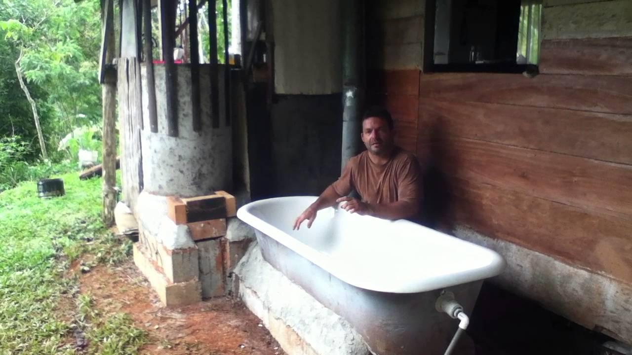 Jungle Tech 101, Passive Bathtub heating with a Rocket Mass Heater ...