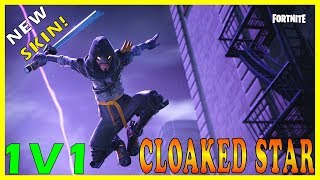 "NEW ""CLOAKED STAR"" SKIN in FORTNITE - SEASON 6 COUNTDOWN (Soon Giveaway) // 1V1 Playgroud With SUBS"