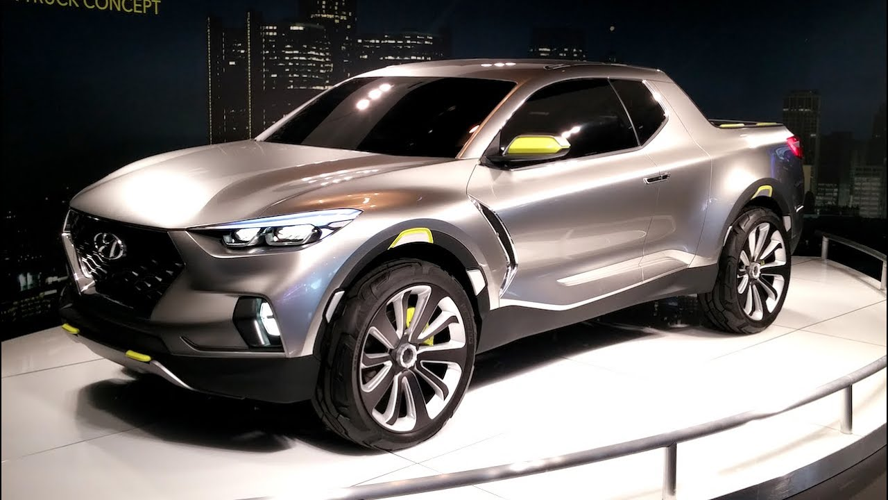 hyundai santa cruz crossover truck concept 2015 detroit auto show fast lane daily youtube. Black Bedroom Furniture Sets. Home Design Ideas