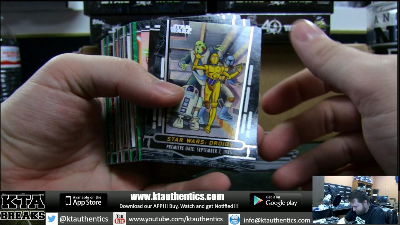 Ktauthentics topps star wars th anniversary hobby box
