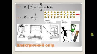 Урок 11.2 Електричний опір. Закон Ома.