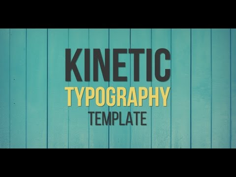 After Effects Template: Kinetic Typography