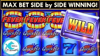 *Quick Hit Fever* Slot Machine - All 4 Bonuses w/ BIG WINS!