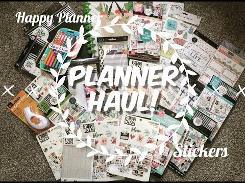 HUGE Planner Haul-Happy Planner Stickers, Recipe Keeper + More! JoAnn, Hobby Lobby, Walmart Michaels